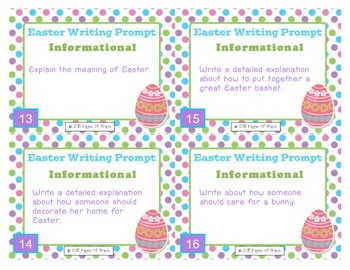 Easter Task Cards-Writing Prompts