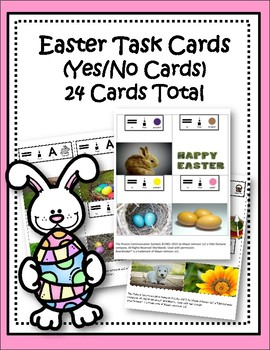 Easter Task Cards-Yes/No Cards for Special Education