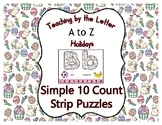 Easter ~ Teaching by the Letter Holiday Strip Number Puzzl