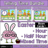 Easter Telling Time Boom Card Bundle - Time to Hour, Half