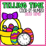 Easter Telling Time Color-By-Number