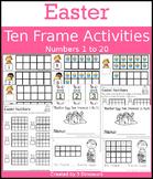 Easter Ten Frame Activities (1-20)