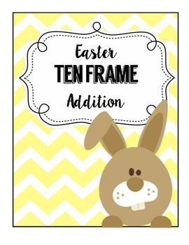 Easter Jelly Bean Ten Frame Addition!