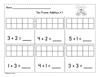 Easter Ten Frame Addition and Subtraction