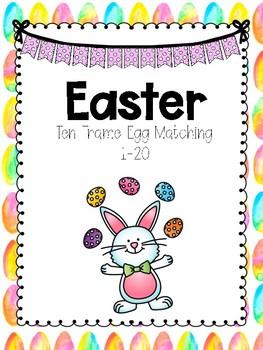 Easter Ten Frame Egg Matching 1-20