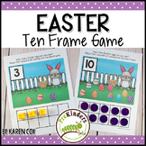 Easter Ten Frame Game  (Pre-K + K Math)