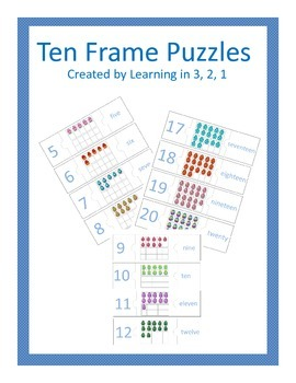 Easter Ten Frame Puzzles