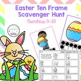 Easter Ten Frame Scavenger Hunt