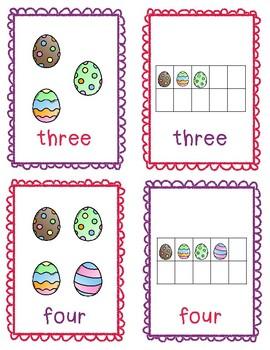Easter Ten Frame Worksheets and Flashcards