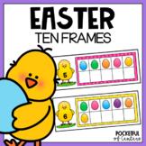 Easter Ten Frames Using Mini Erasers