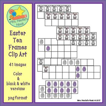 Ten Frames Clip Art - Easter