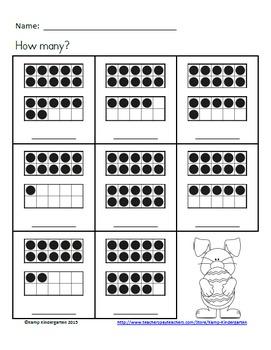 Easter Ten Frames No-Prep Printables (Quantities of 11 to 20)