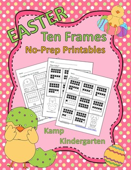 Easter Ten Frames No-Prep Printables (Quantities of 11 to 20)