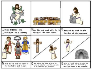 Easter: The Last Week of Jesus' Life Cartoon Strip