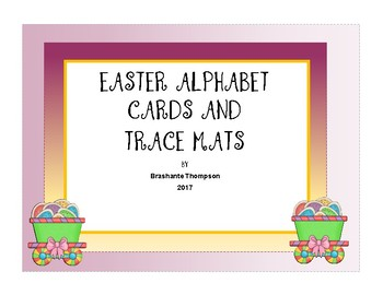 Easter Theme Alphabet Cards Traceable and Playdough Mats
