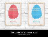 Easter Theme Classroom Decor - Digital Printable Posters - Easter Egg Clip Art