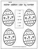 Easter Theme Color By Number- ADDITION