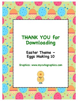 Easter Theme (Easter Eggs) - Can You Make 10?