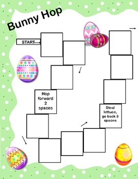 Easter Theme Game Board