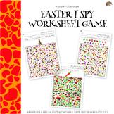 Easter Theme I Spy Worksheets