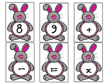 Easter Theme Letter and Number Cards - Two Sets