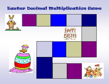 Easter Theme Multiplication of Decimals Board Game