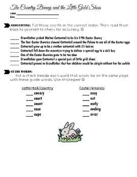 Easter Theme Sequencing Skills