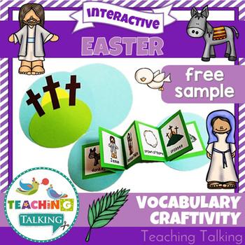 Easter Theme Vocabulary Craftivity Freebie