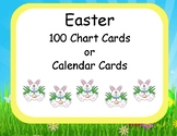 Easter Themed 100 Chart or Calendar Cards