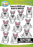 Easter 2D Icon Shapes Clipart {Zip-A-Dee-Doo-Dah Designs}