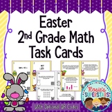 Easter 2nd Grade Math Task Cards with Optional QR Codes
