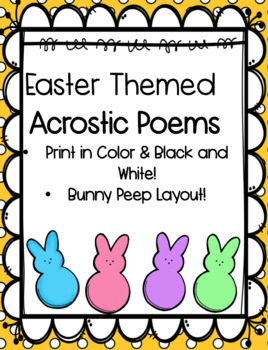 Easter Themed Acrostic Poem
