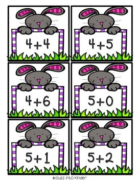 Easter Themed Addition and Subtraction Task Cards
