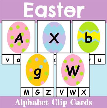 Easter Themed Alphabet Clip Cards