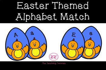 Easter Themed Alphabet Match