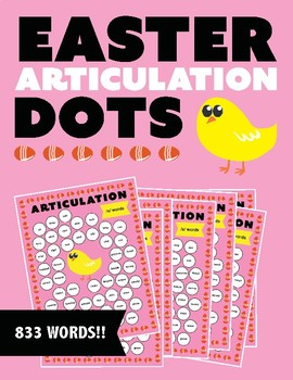 Easter Themed Articulation Dots (No Prep!)