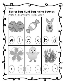 Easter Themed Beginning Sounds