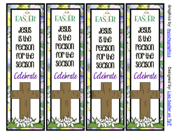 Easter Themed Bookmarks - BOTH Cute and Religious Designs