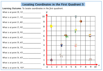 Easter Themed Coordinates in the First Quadrant 10 Differentiated Worksheets