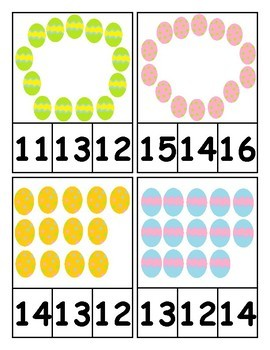 Easter Themed Counting and Cardinality Centers for Kindergarten