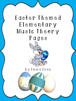 Easter Themed Elementary Music Theory Pages