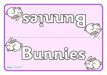 Easter Themed Group Table Signs