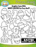 Easter Picture Shapes Clipart {Zip-A-Dee-Doo-Dah Designs}