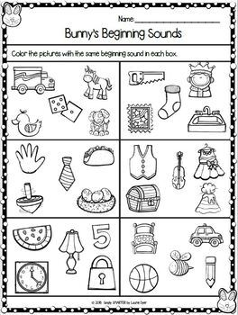 Easter Themed Kindergarten Math and Literacy Worksheets and Activities