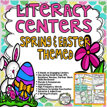 Literacy Centers Spring or Easter Themed Centers