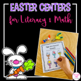 Kindergarten Easter Math and Literacy Centers