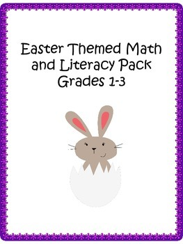Easter Themed Math and Literacy pack