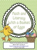 Easter Themed Math and Literacy using Basket of Eggs