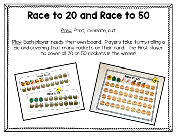 Easter Themed Mini Eraser Math Activities - Number Recognition & Addition