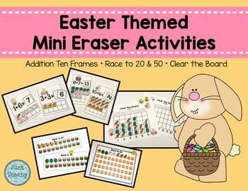 Easter Themed Mini Eraser Math Activities - Number Recogni